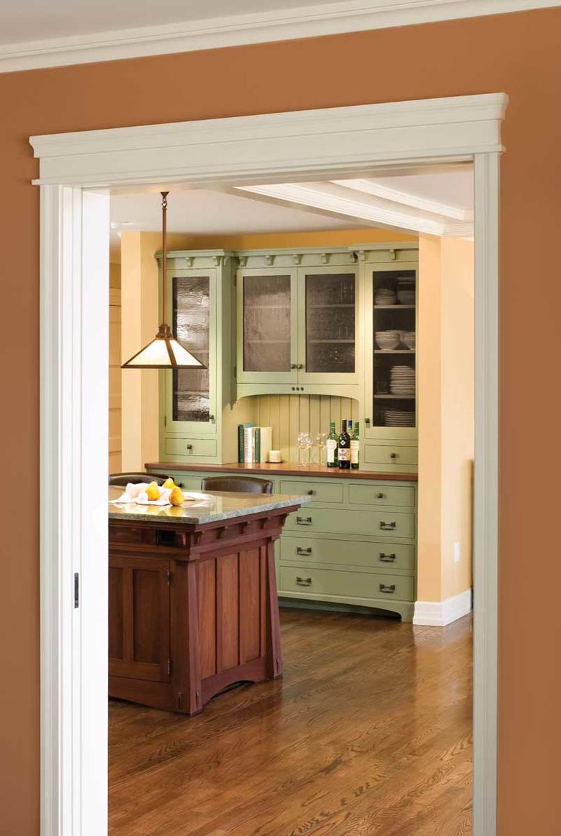 Period-inspired kitchen by Crown Point Cabinetry