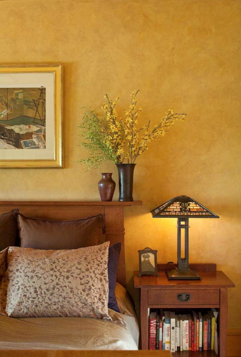 A painterly approach arts crafts homes and the revival for Arts and crafts bedroom
