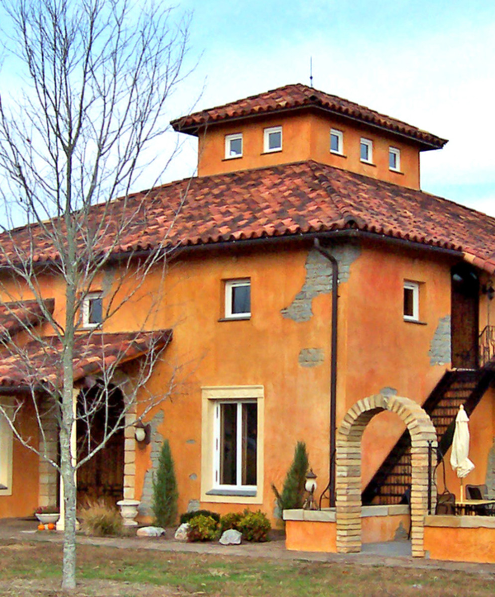 Tile Roofs Inc. supplied rustic Mission tile for the Blue Star Winery in Illinois.