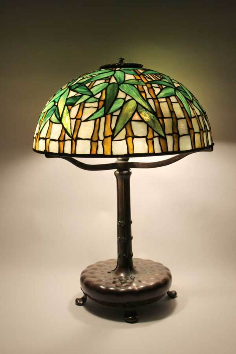 "16"" reproduction of Tiffany's Bamboo lamp"