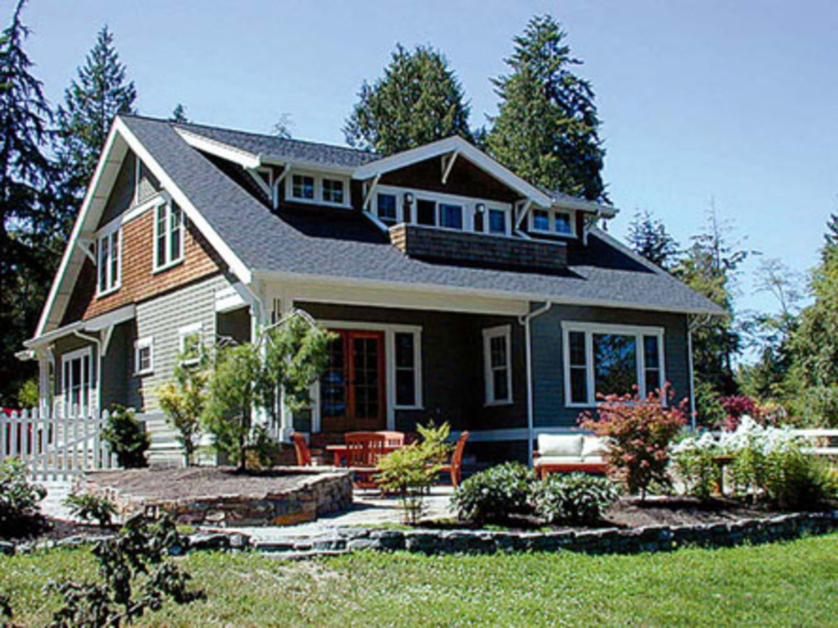 Home ideas american bungalow or arts and crafts home and for Cottage style house