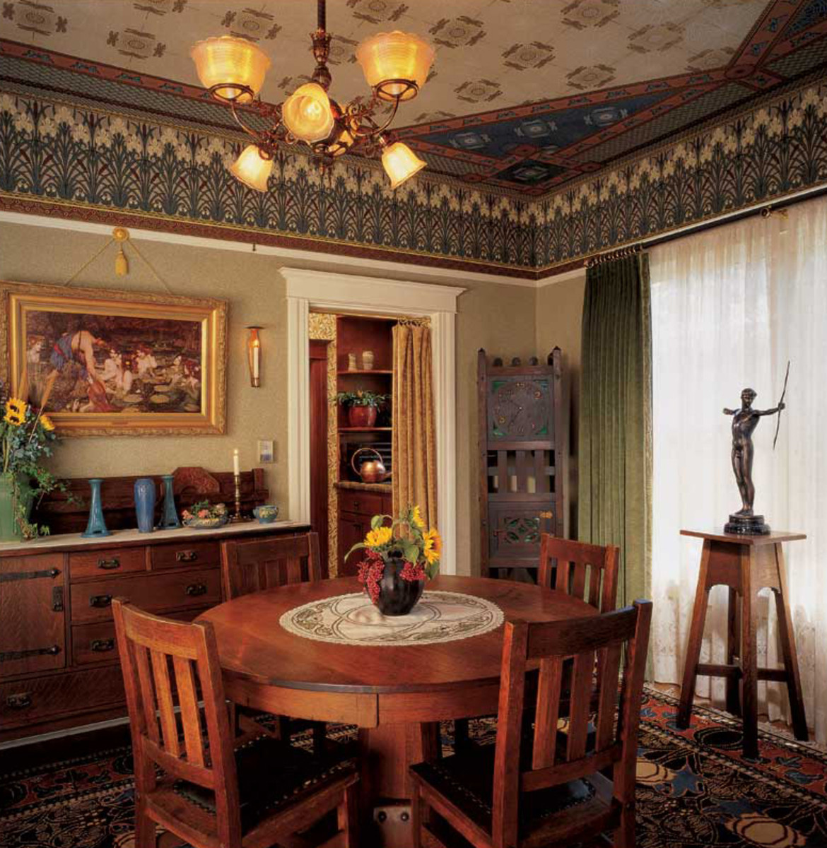 Arts & Crafts dining room