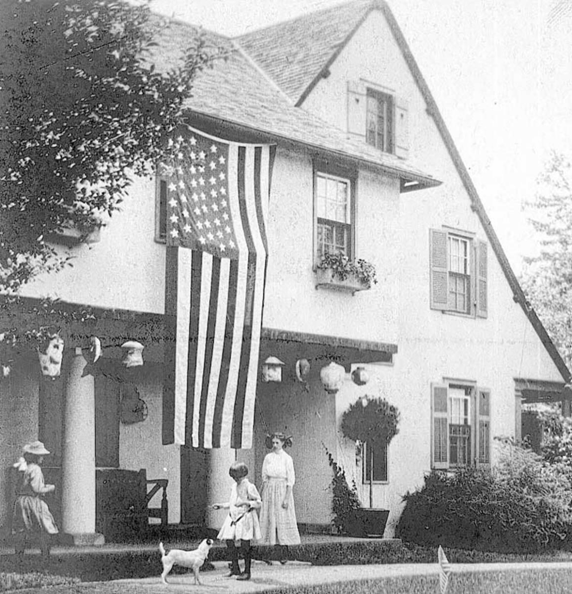 Ragdale House, circa 1907.