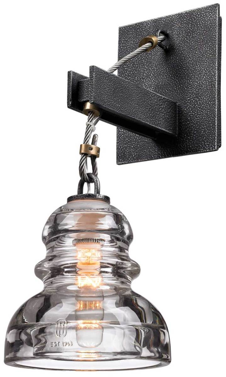 Use a reproduction hairpin filament bulb in the Menlo Park sconce from House of Antique Hardware.