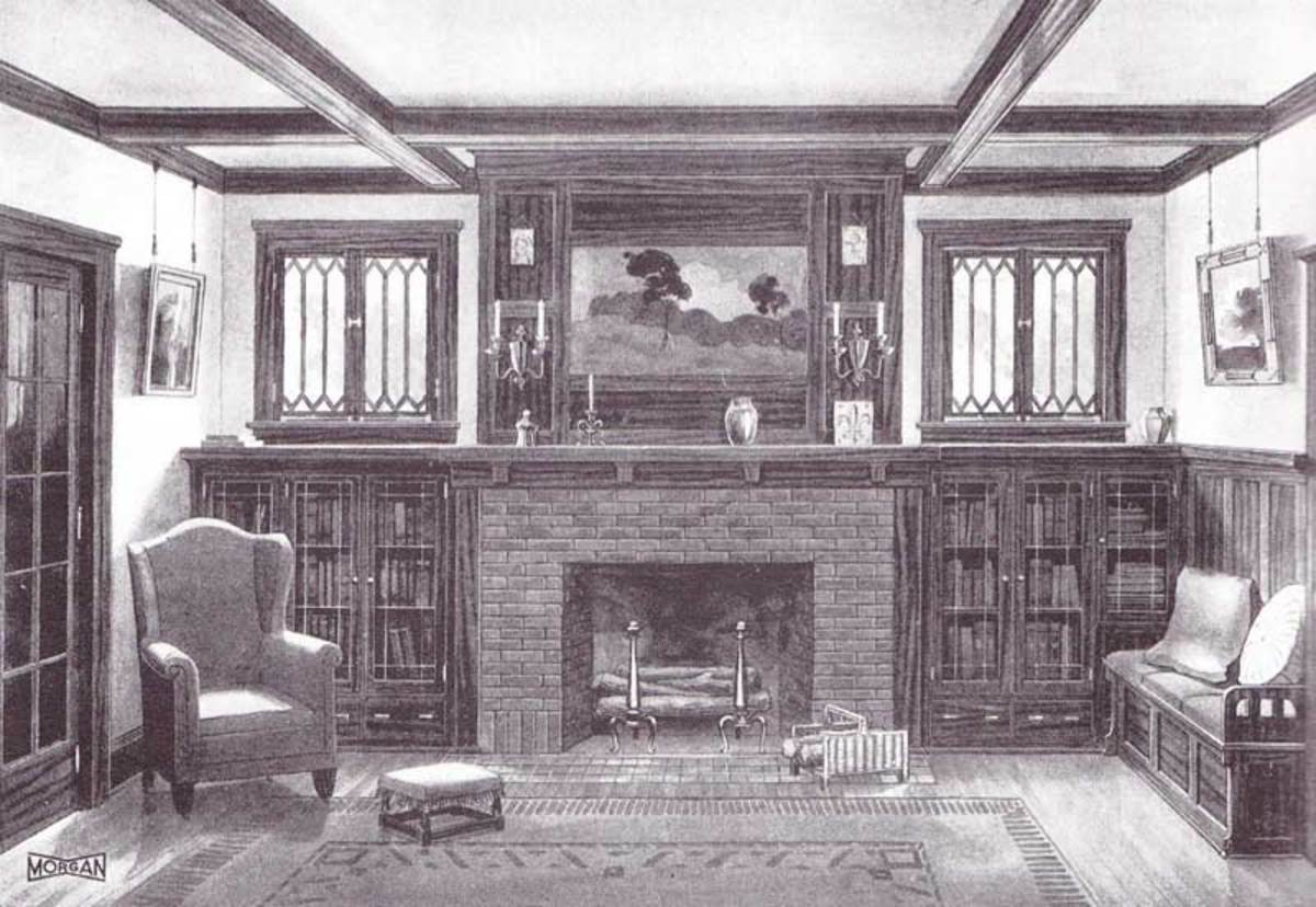 An almost identical pairing appeared in Morgan Woodwork's catalog of 1921.