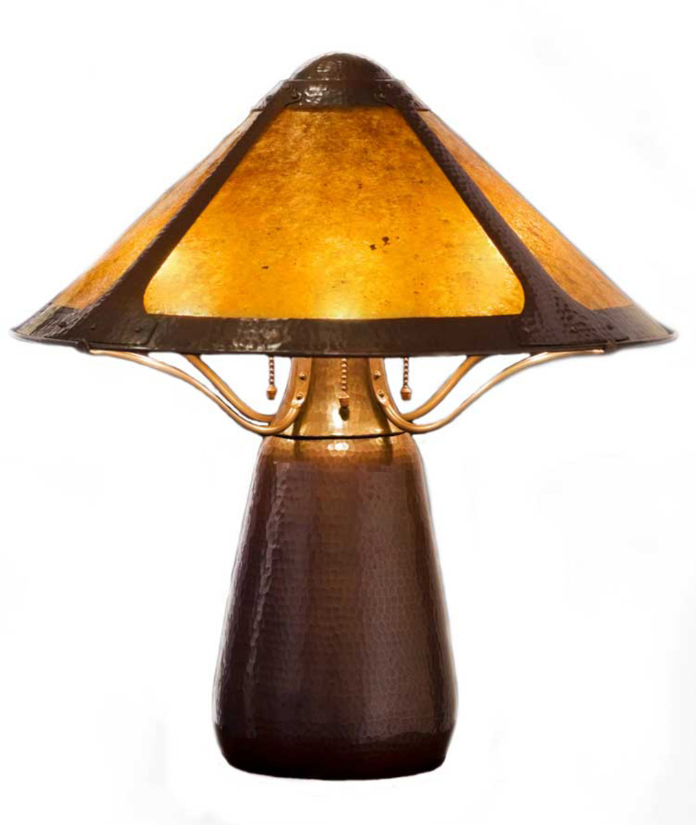 Craftsman Copper's bullet lamp