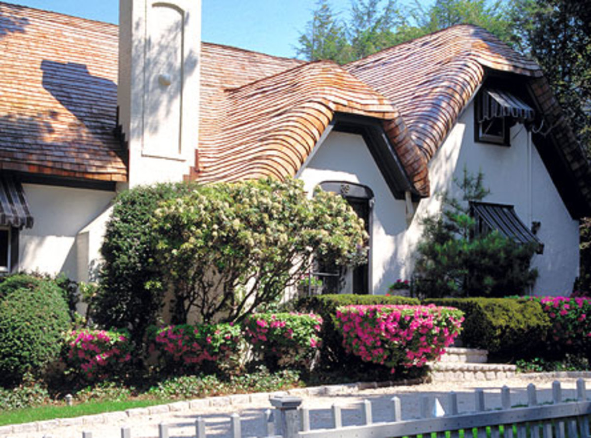 "shingle ""thatch"" roof by Custom Cedar Solutions"