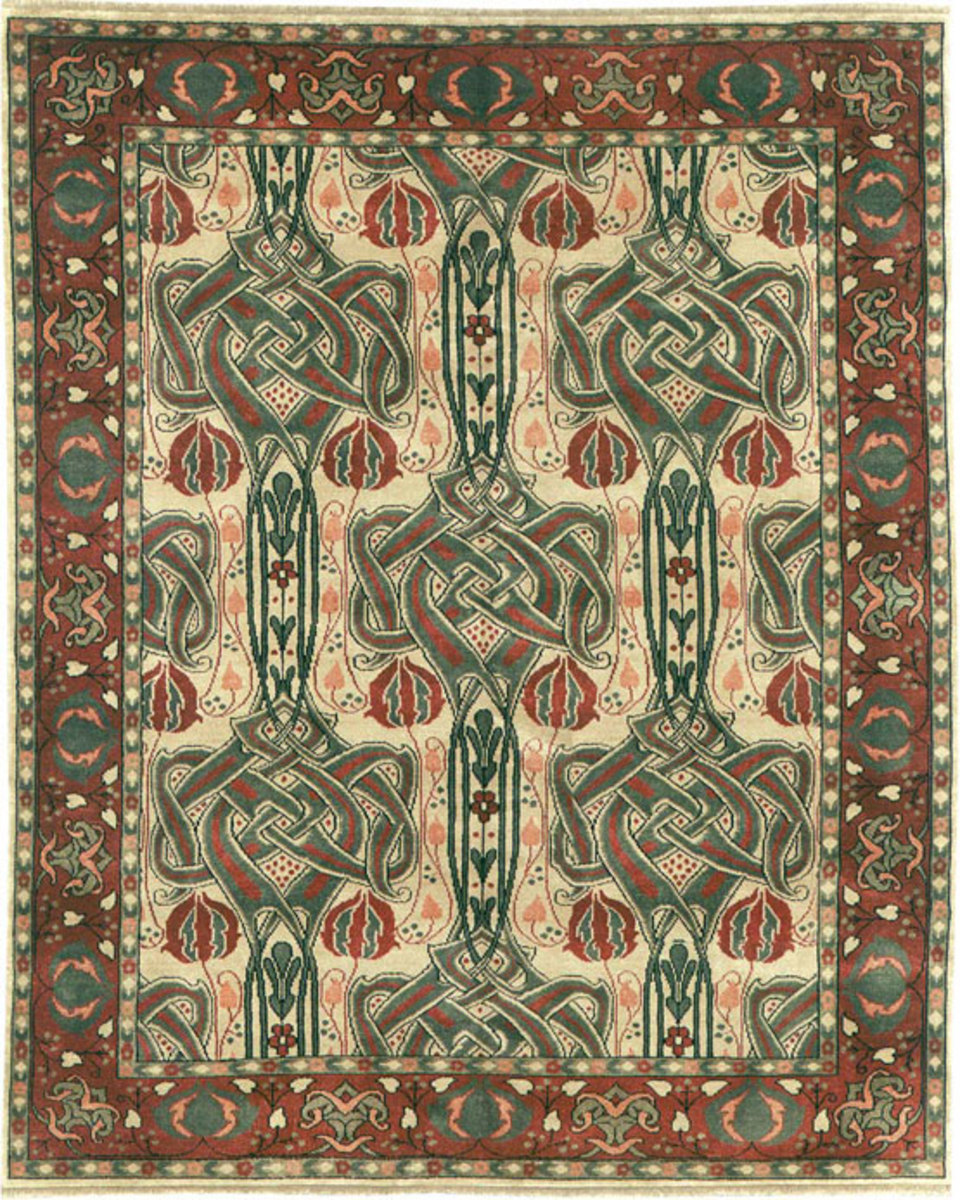 New Arts & Crafts wool carpets are, like vintage ones, naturally stain resistant. This is from Persian Carpet.