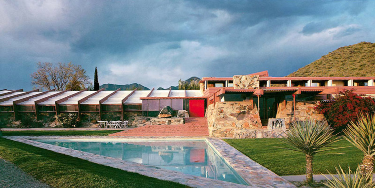 Taliesin West was Frank Lloyd Wright's winter residence and studio.