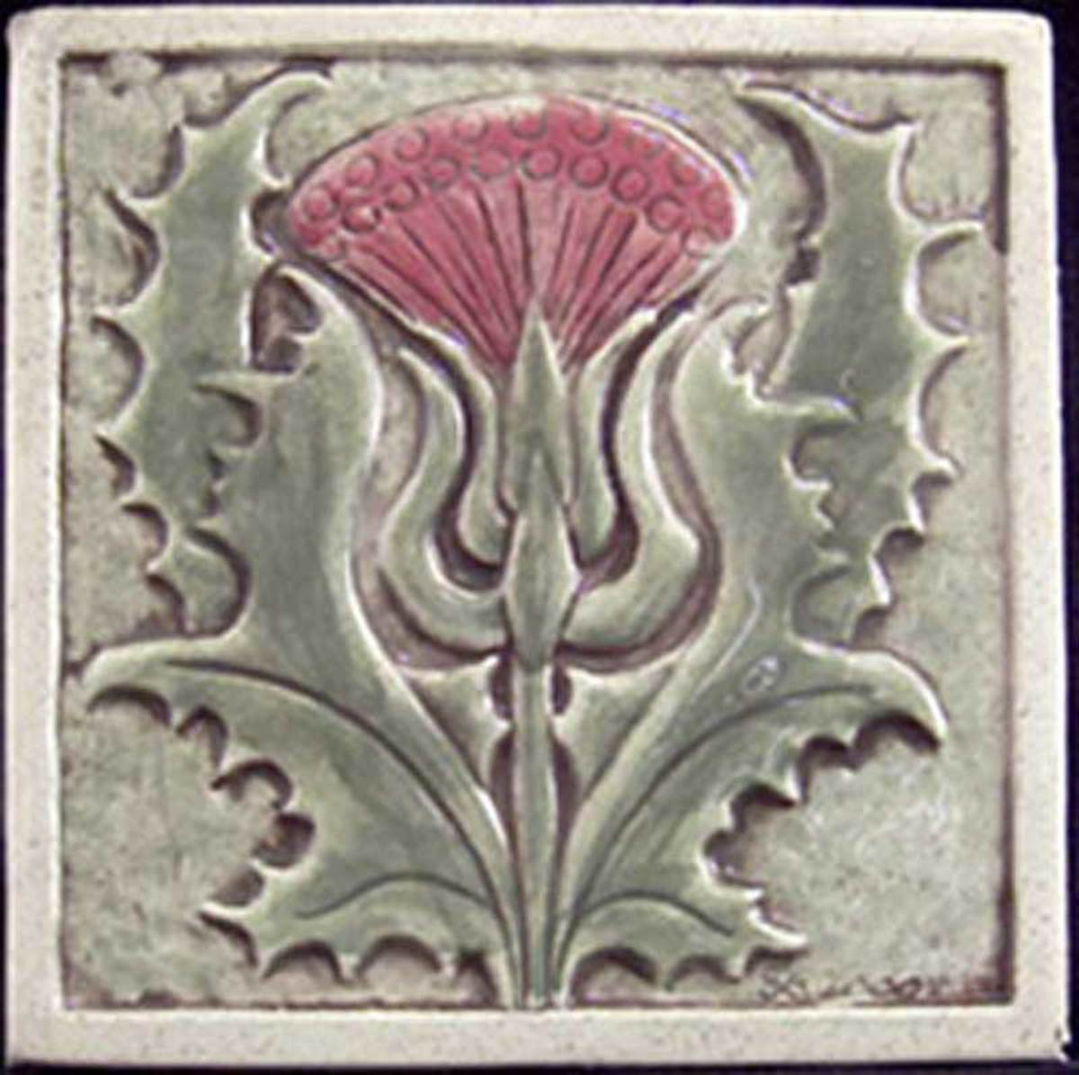 Thistle tile by Earth Song.