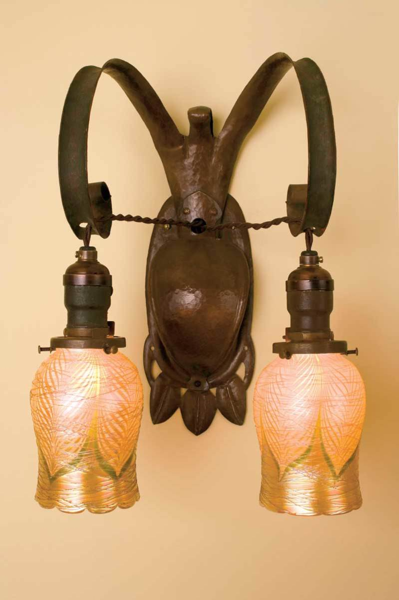 Stickley Brothers double sconce by MW&M Lighting