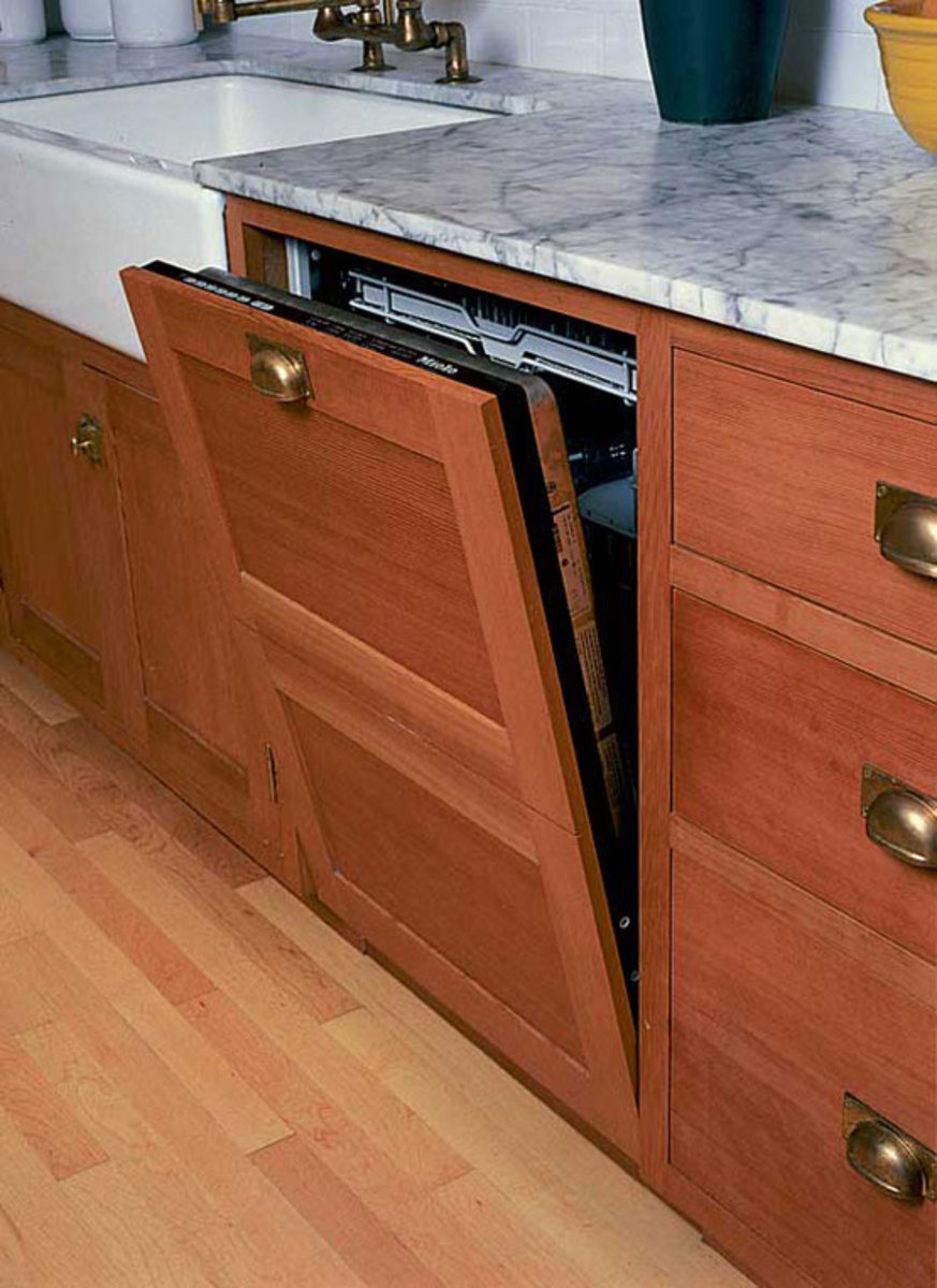 dishwasher panel with two drawers