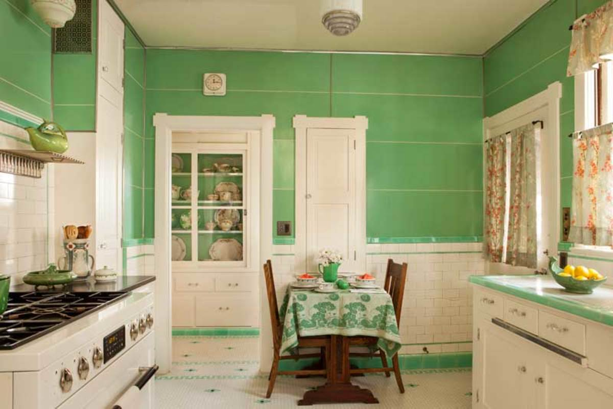 Kitchen in mint condition arts crafts homes and the for 1930s kitchen floor
