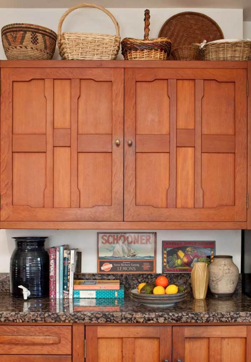 Greene & Greene-inspired Douglas fir cabinets