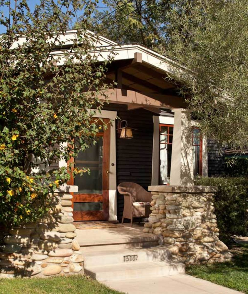 Beautiful bungalow arts crafts homes and the revival for River rock columns