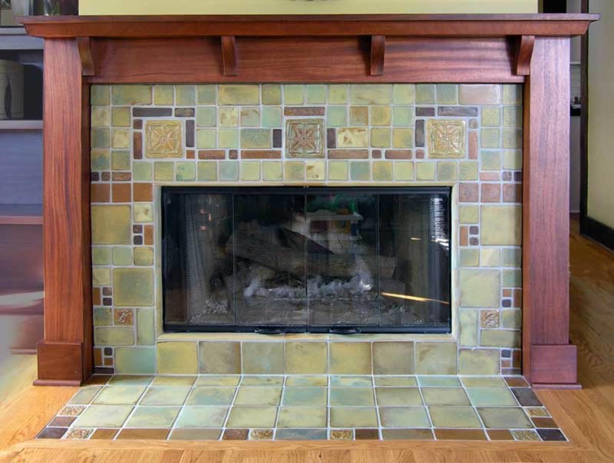 a geometric fireplace by pasadena craftsman tile jpg