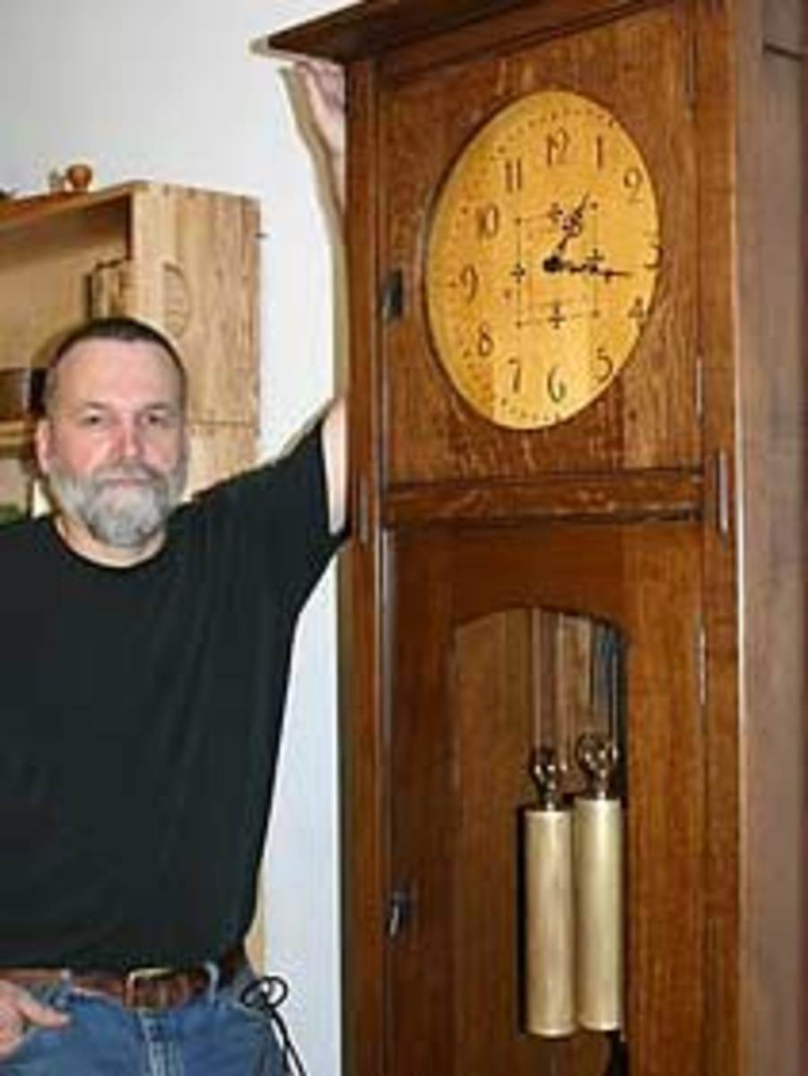Dale Barnard with clock