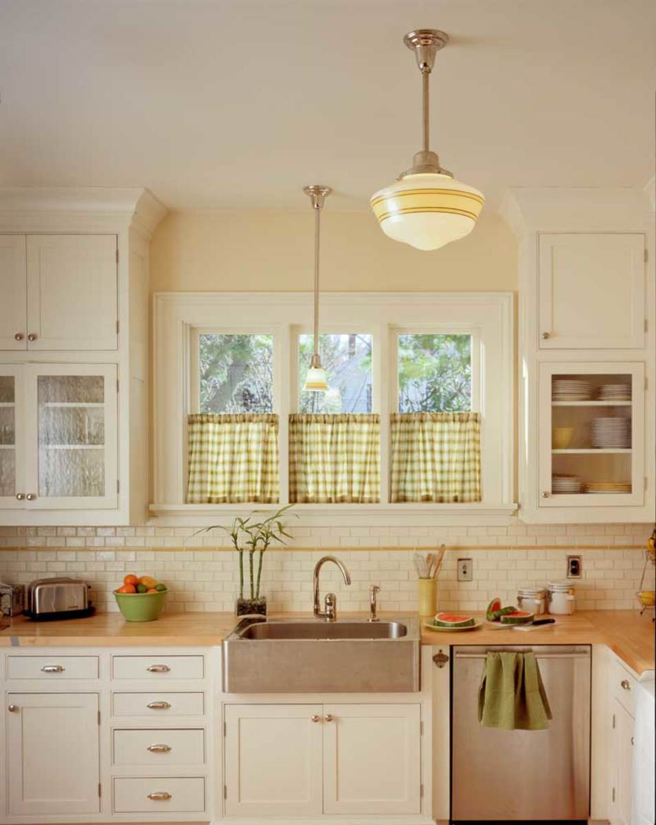Two arts crafts kitchens bungalow basic adirondack - Arts and crafts home interior design ...