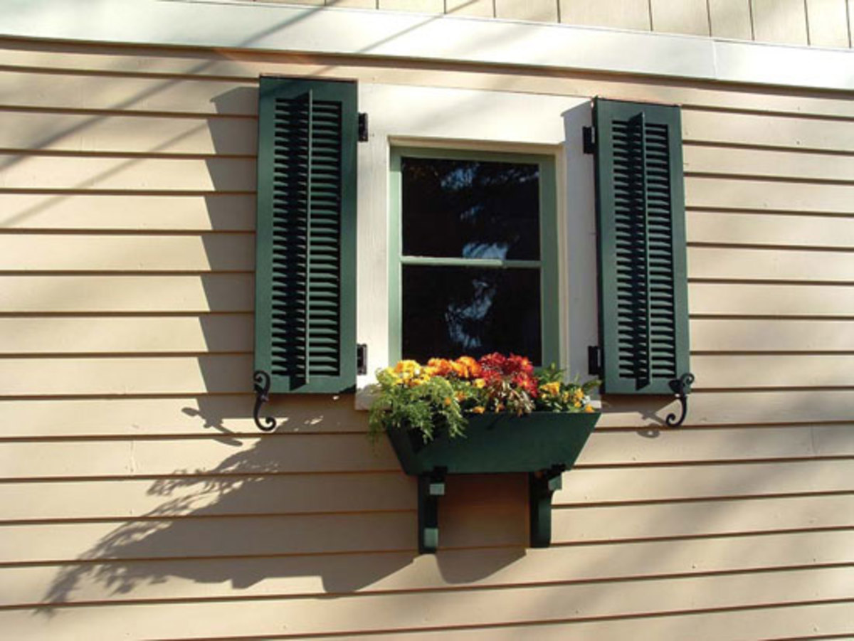 Window shutter classics arts crafts homes and the revival arts crafts homes and the revival for Arts and crafts exterior shutters