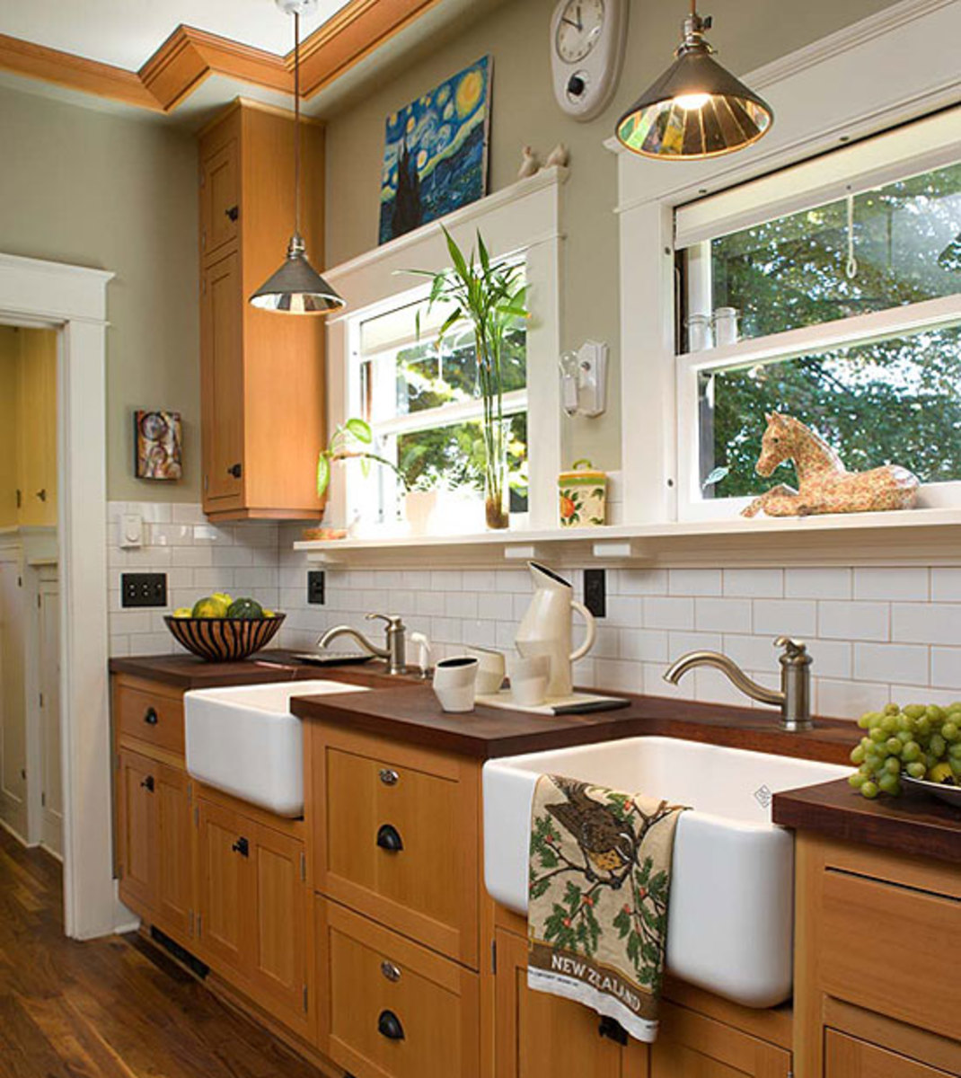 White subway tile works for Victorian-era kitchens and those of the Arts & Crafts revival. Photo by William Wright.