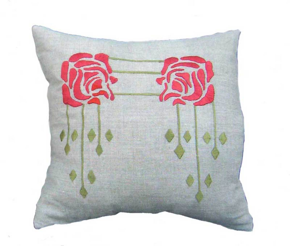 Rose is an embroidered pattern.