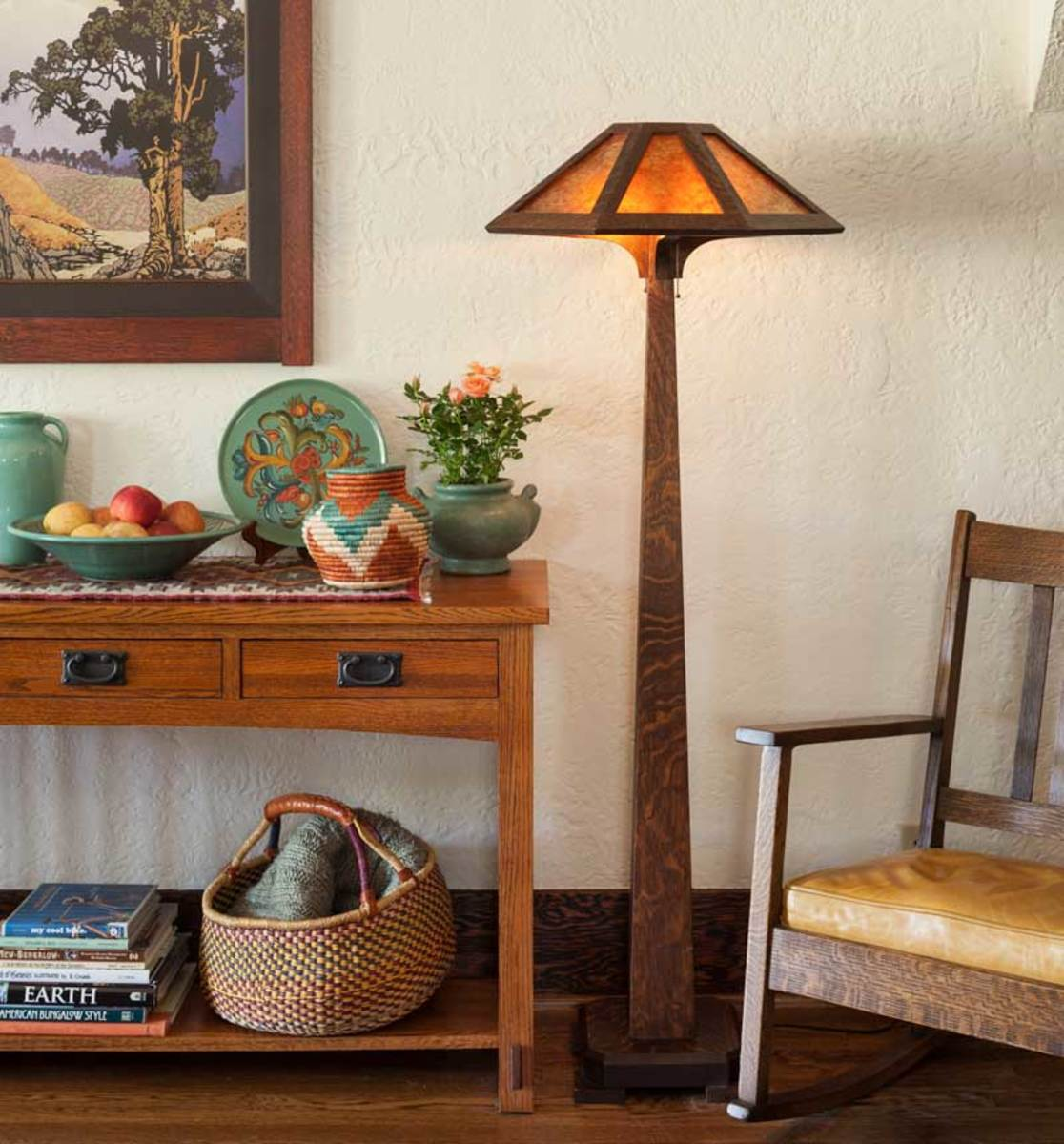 'Saugatuck' Mission-style floor lamp from Ragsdale