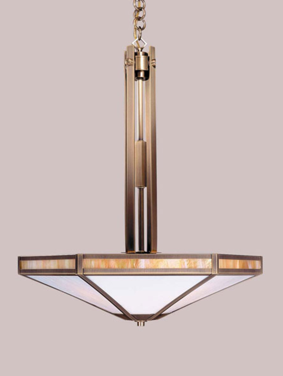 "Arroyo Craftsman's 'Etoile' series 21"" pendant is priced from $565."