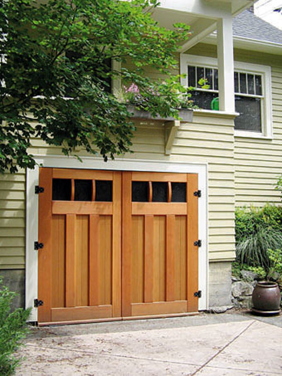 Huge list of arts crafts style doors and windows for Garage door styles
