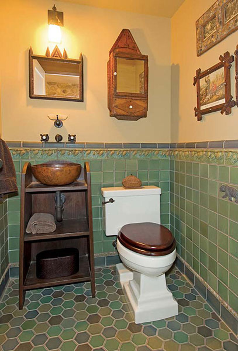 Inspired bathrooms arts crafts homes and the revival for Craftsman style flooring