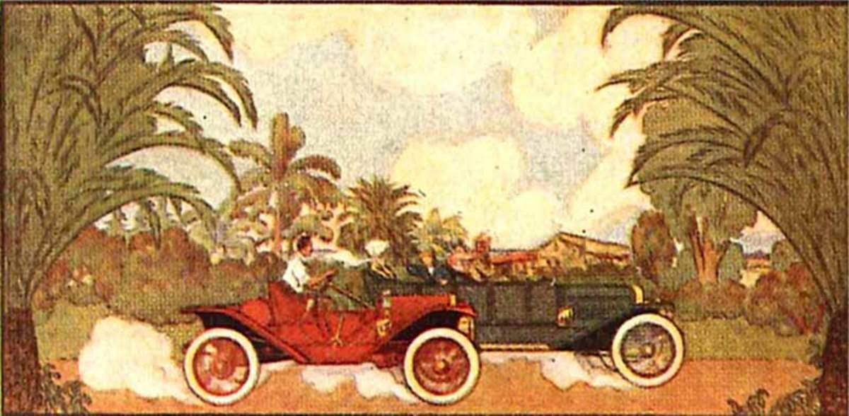 wallpaper racing frieze, Henry Bosch Co.