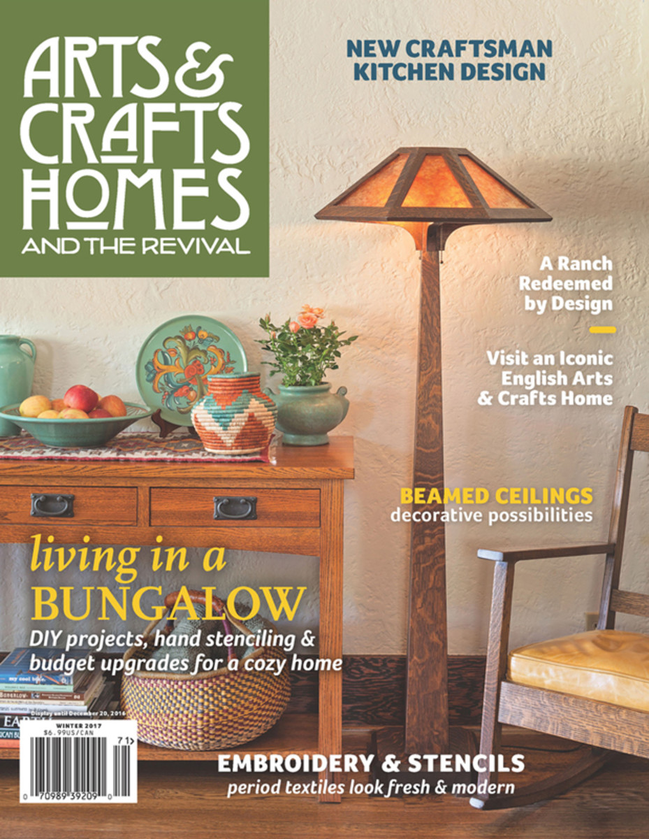 Arts crafts homes winter 2017 design for the arts for Arts and crafts home magazine