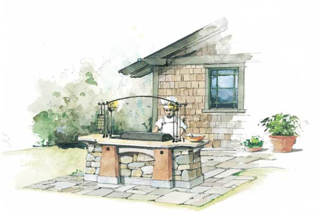 outdoor hearth illustration