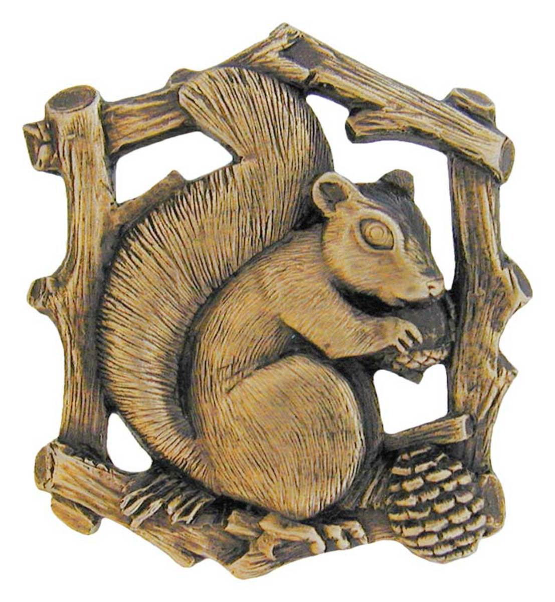The Squirrel knob is from Notting Hill Decorative Hardware.