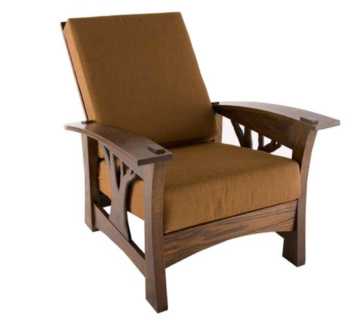 Brace's tree-motif 'Arbor Bow Arm Morris' chair is one of his signature pieces.