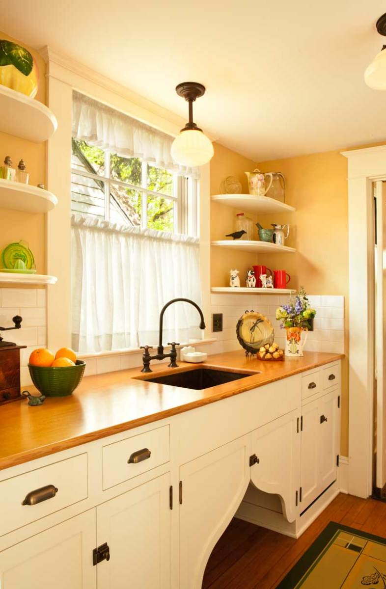 The restored pantry has a wood countertop. Photo: Blackstone Edge