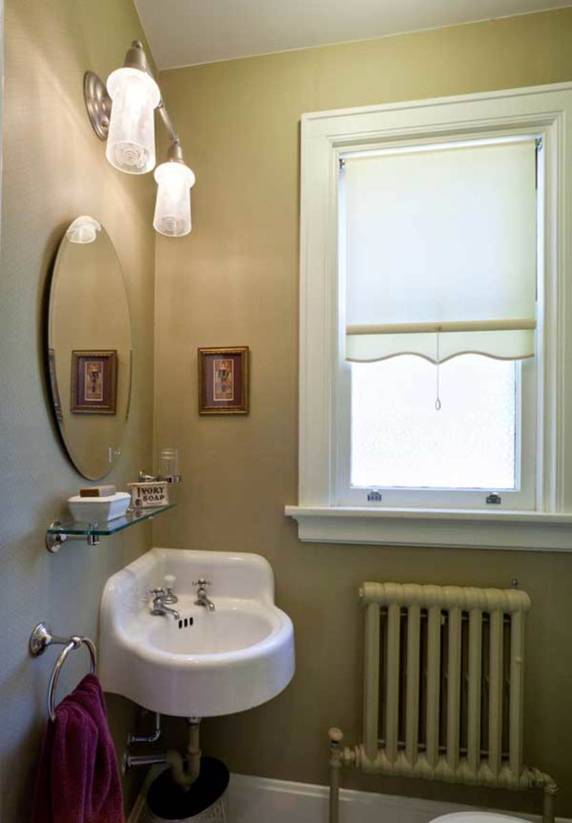 Spectacular The corner sink is the focal point of this powder room Photo Josh Beeman