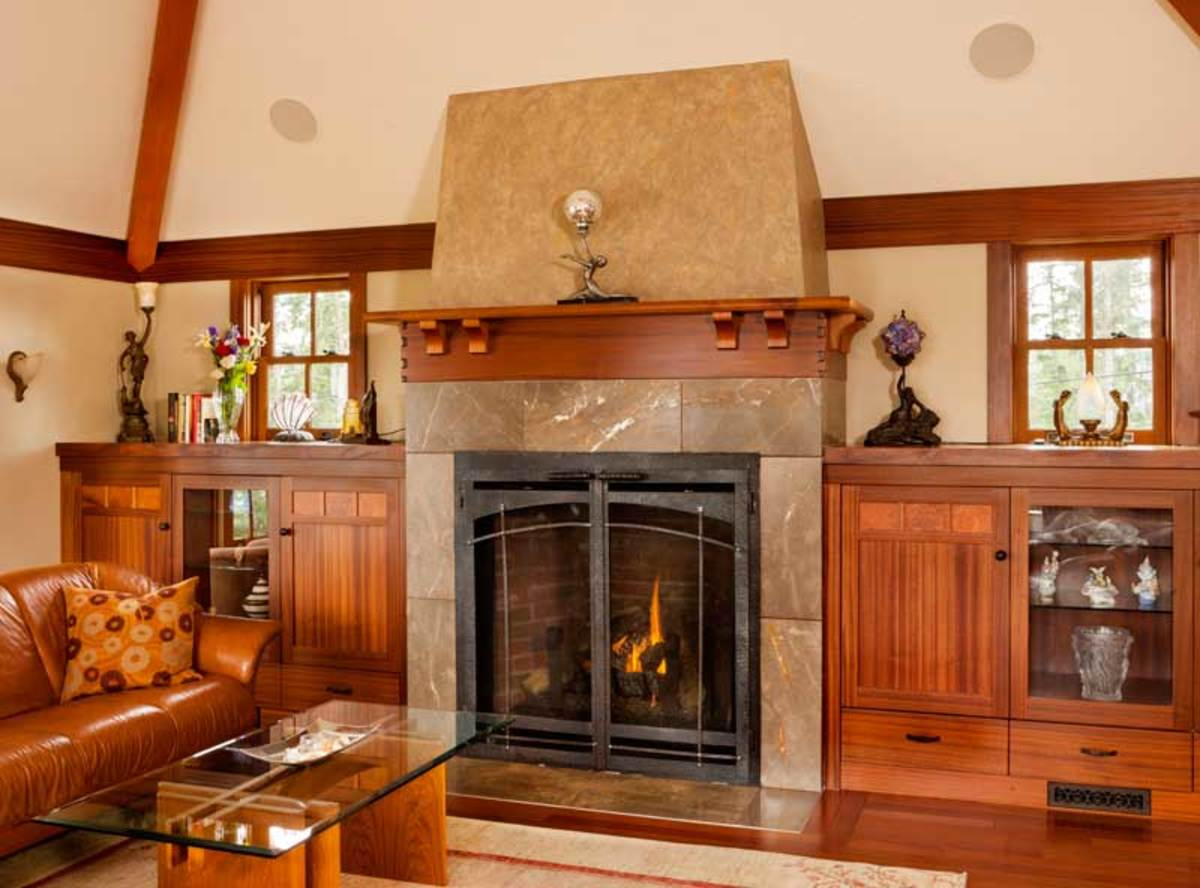 All in the details arts crafts homes and the revival for Craftsman fireplace pictures