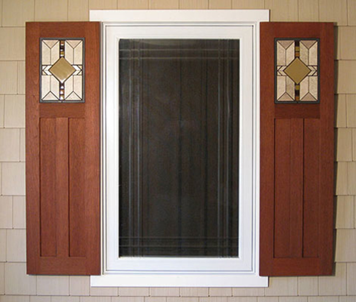 Millwork and shutter products arts crafts homes and for Mission style shutters