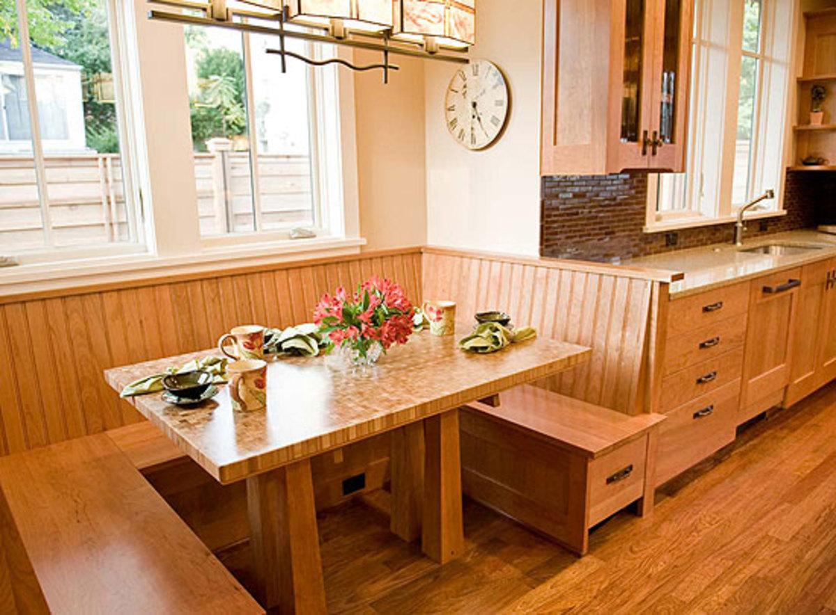 Arts and crafts kitchen breakfast nook - Kitchen nooks ...