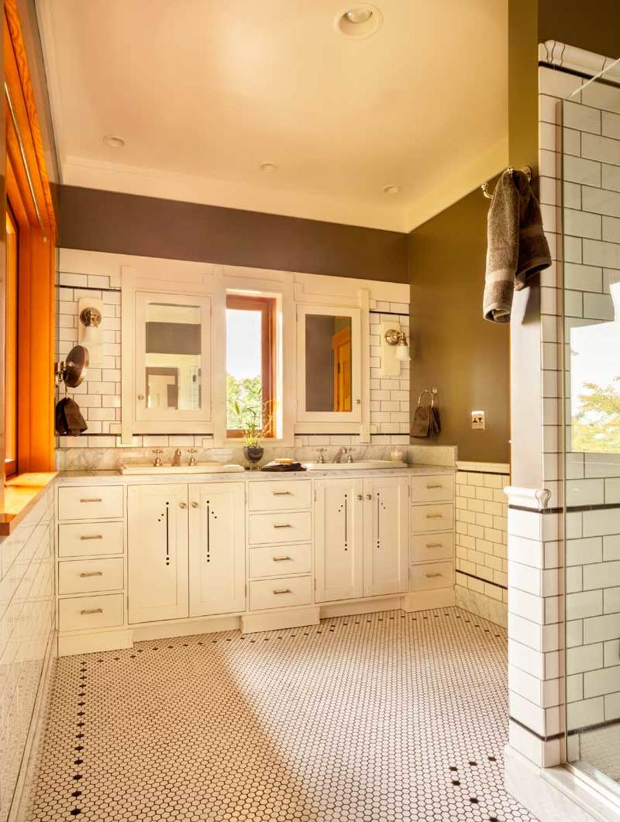 Craftsman master bathroom