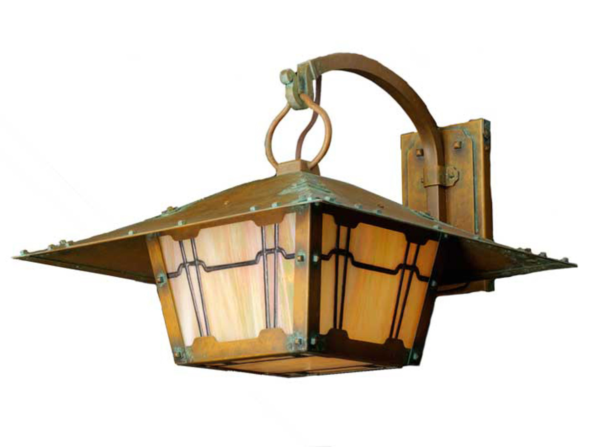 The large Gamble bracket light in the Wentworth Avenue collection is based on the work of Greene & Greene.