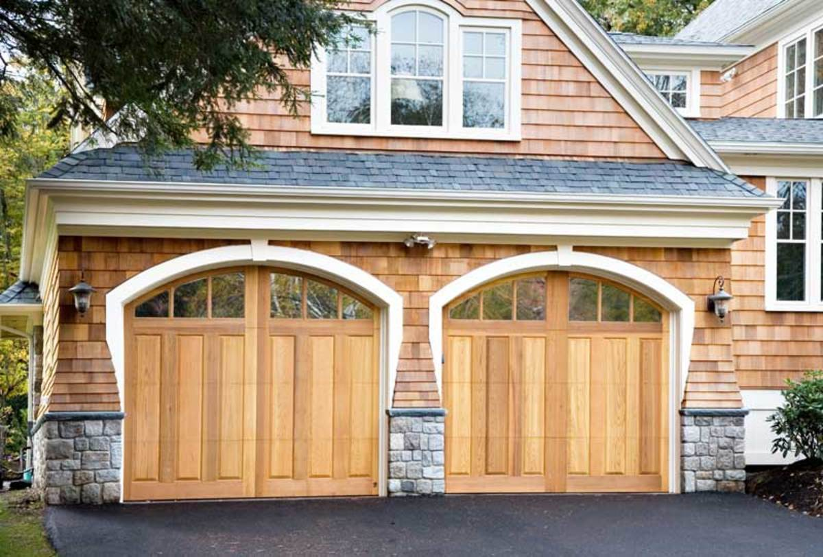Carriage house-style doors from Everite