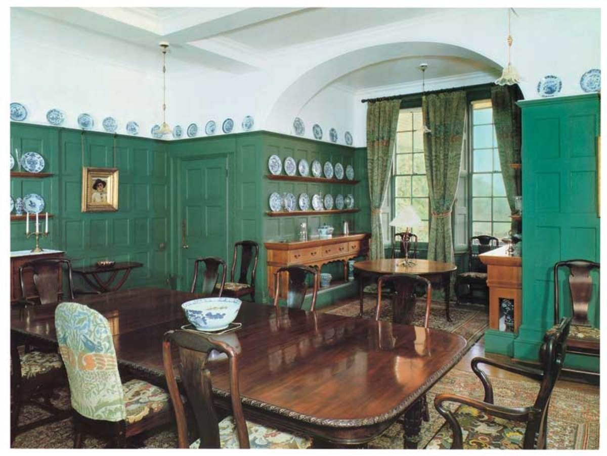 The dining room at the original Standen, the south of England.