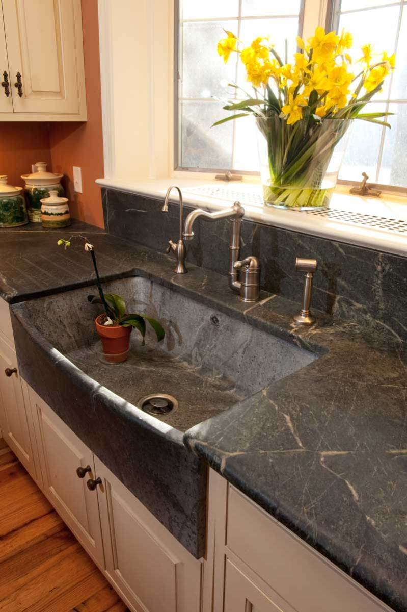 bow-slant sink from Bucks County Soapstone