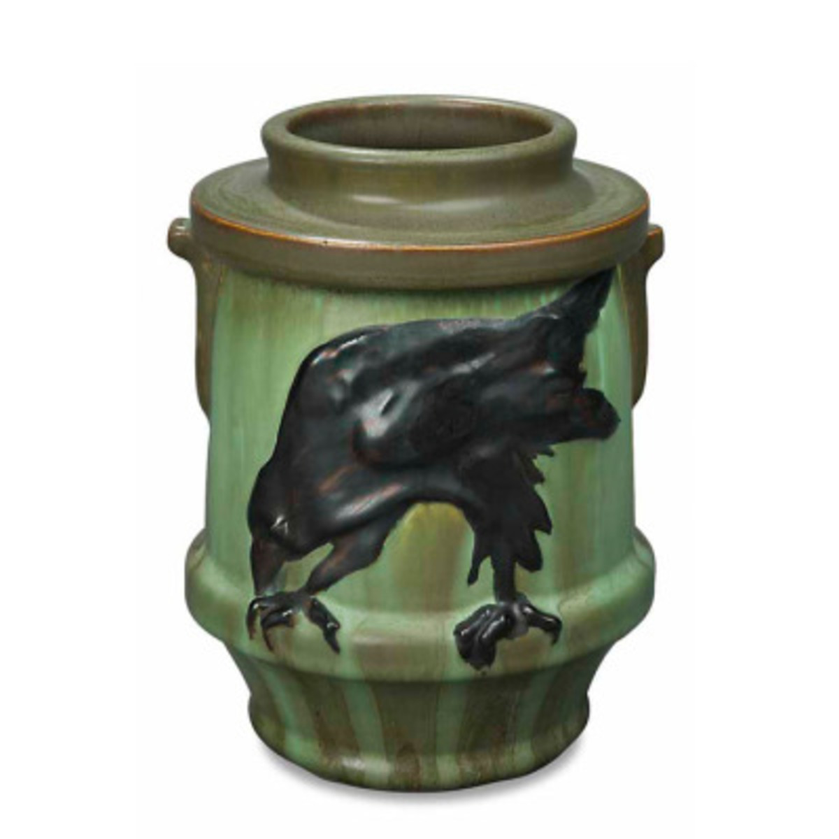 'The Messenger' gothic-feeling vase from Ephraim Faience.