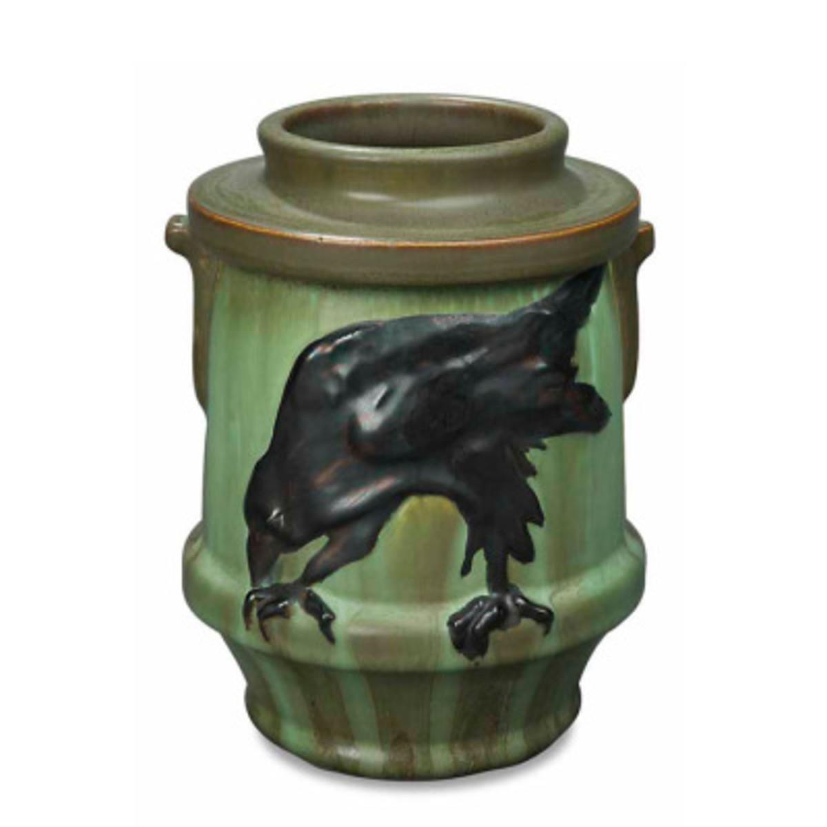 The Messenger gothic-feeling vase from Ephraim Faience.