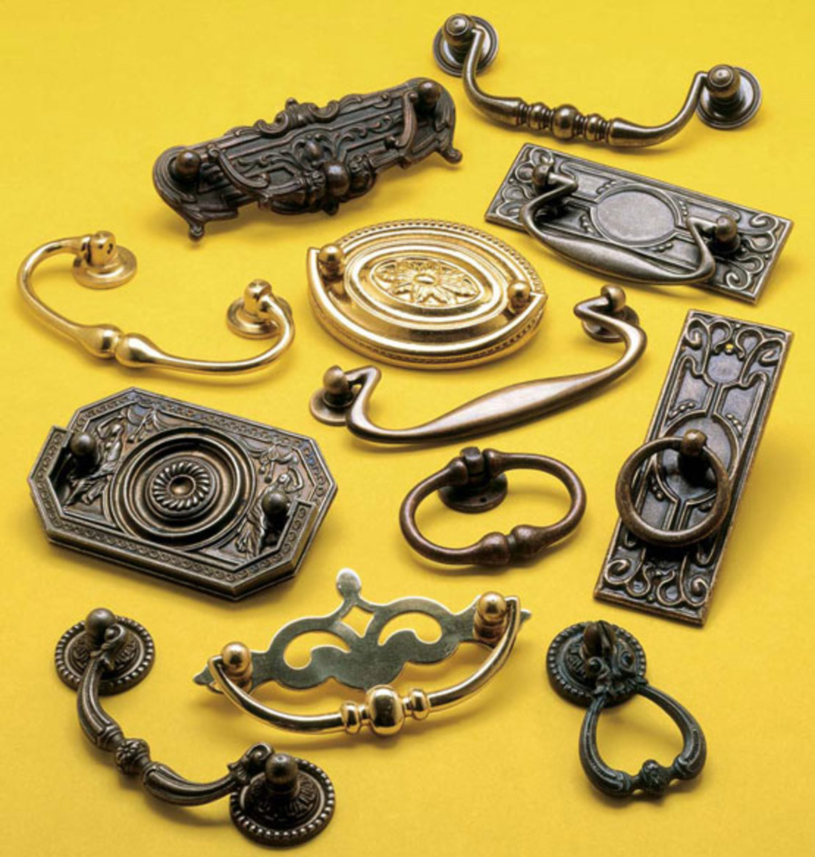 Hardware suitable for Romantic Revival homes, from Omnia Industries.