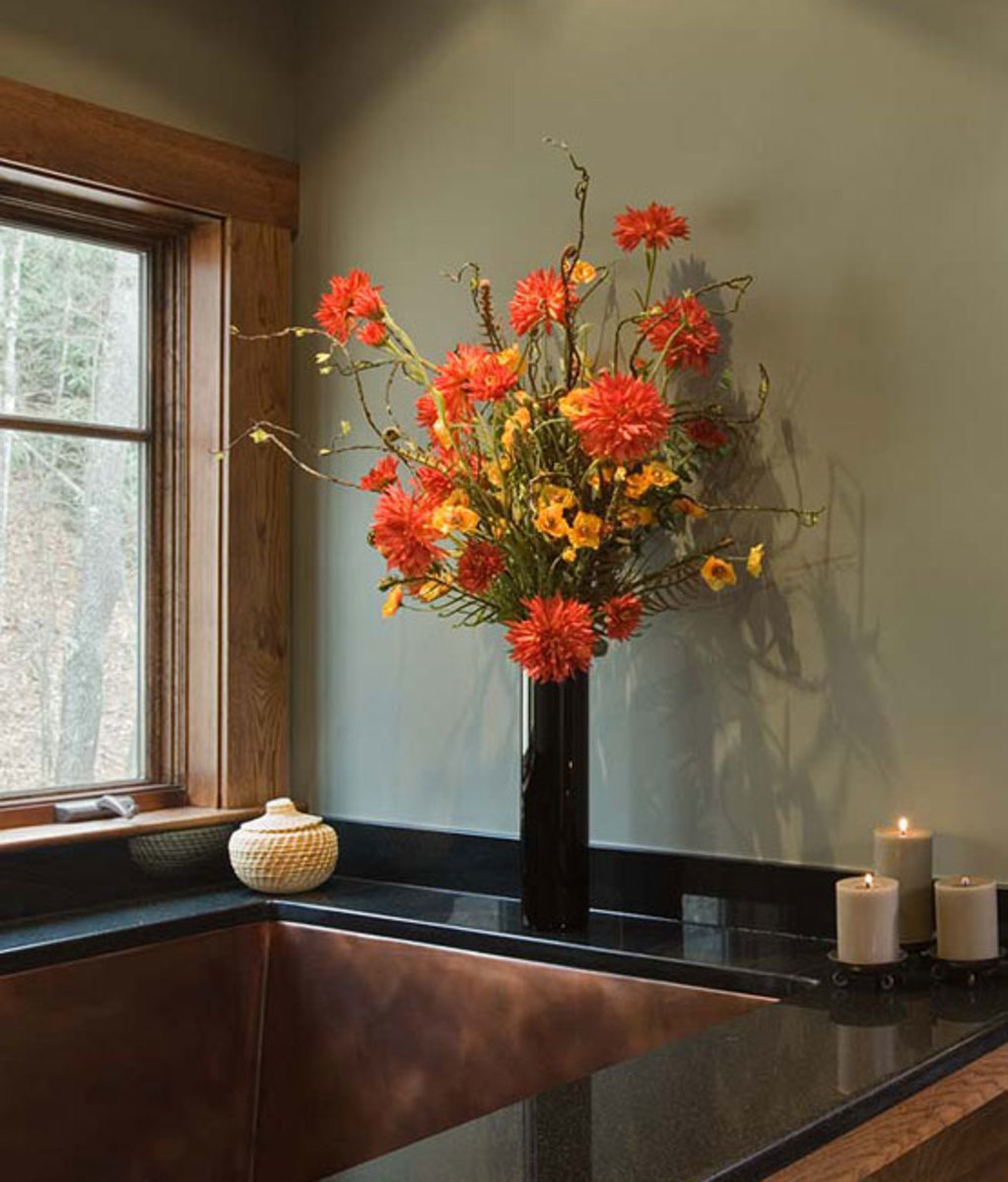 Contemporary artisanry in the master bath.
