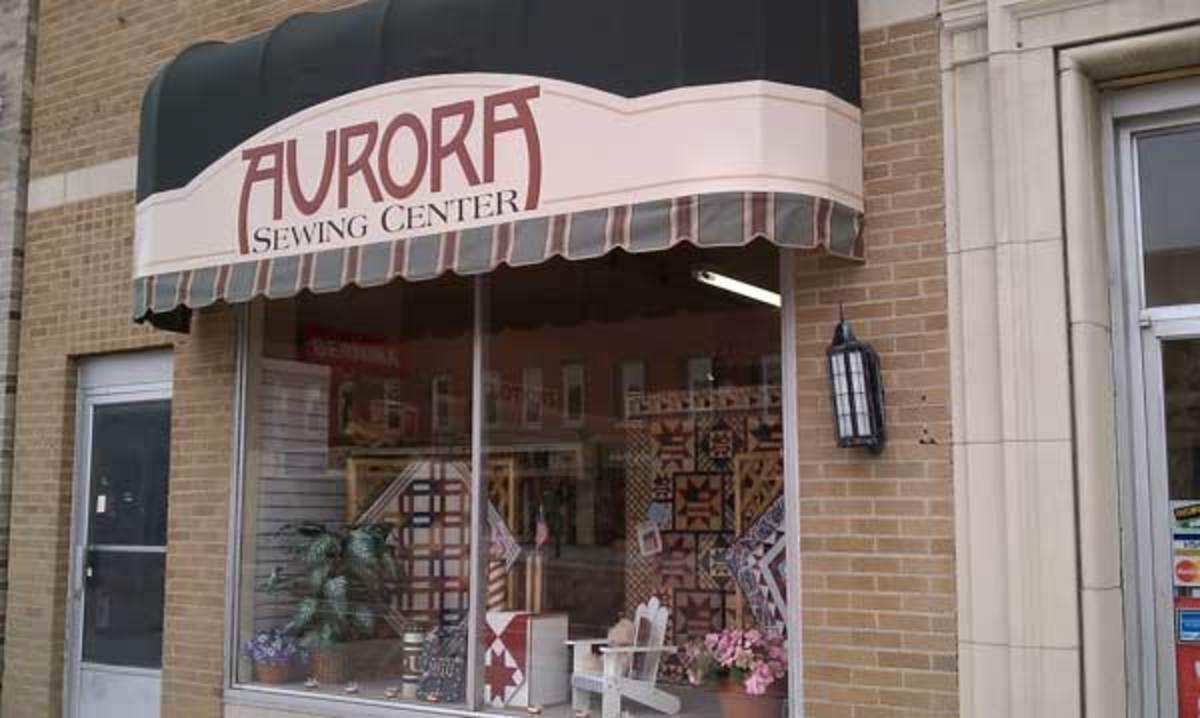 An East Aurora storefront.