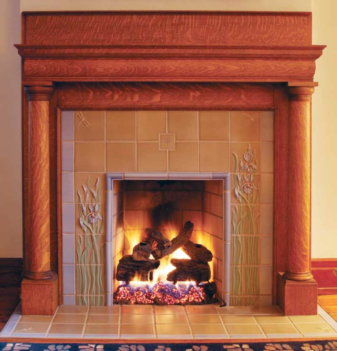 Tree Of Life Fireplace Surround: Arts & Crafts Homes And The Revival